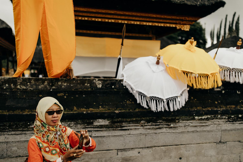 Muslim woman in Bali, Indonesia