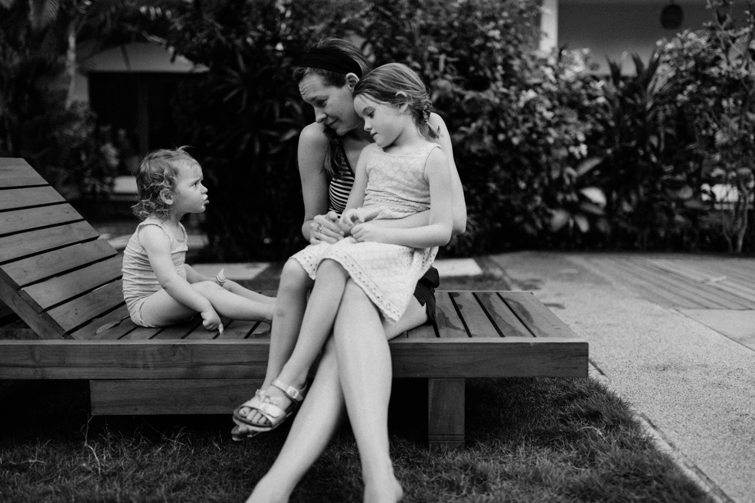 Kids with mother