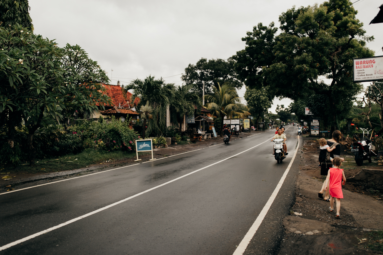 Road in Permuteran, Bali, Indonesia