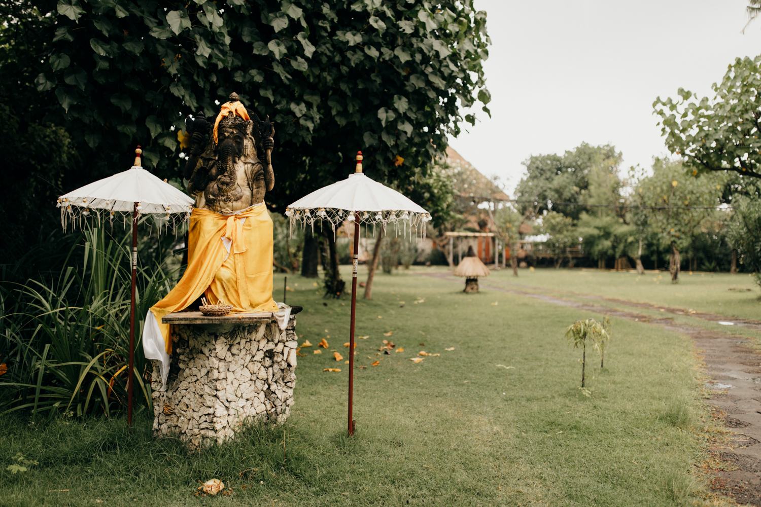 Ceremony place in Bali, Indonesia