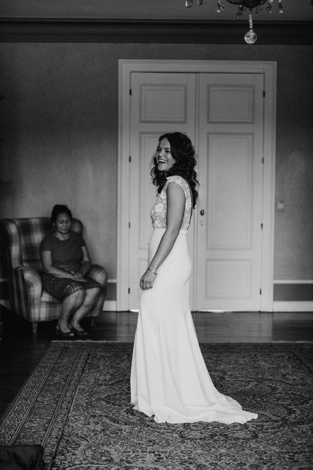 Bride in her dress