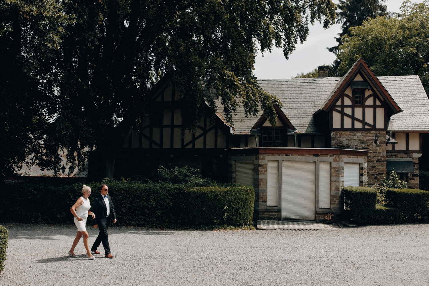 People walking in Chateau de Presseux