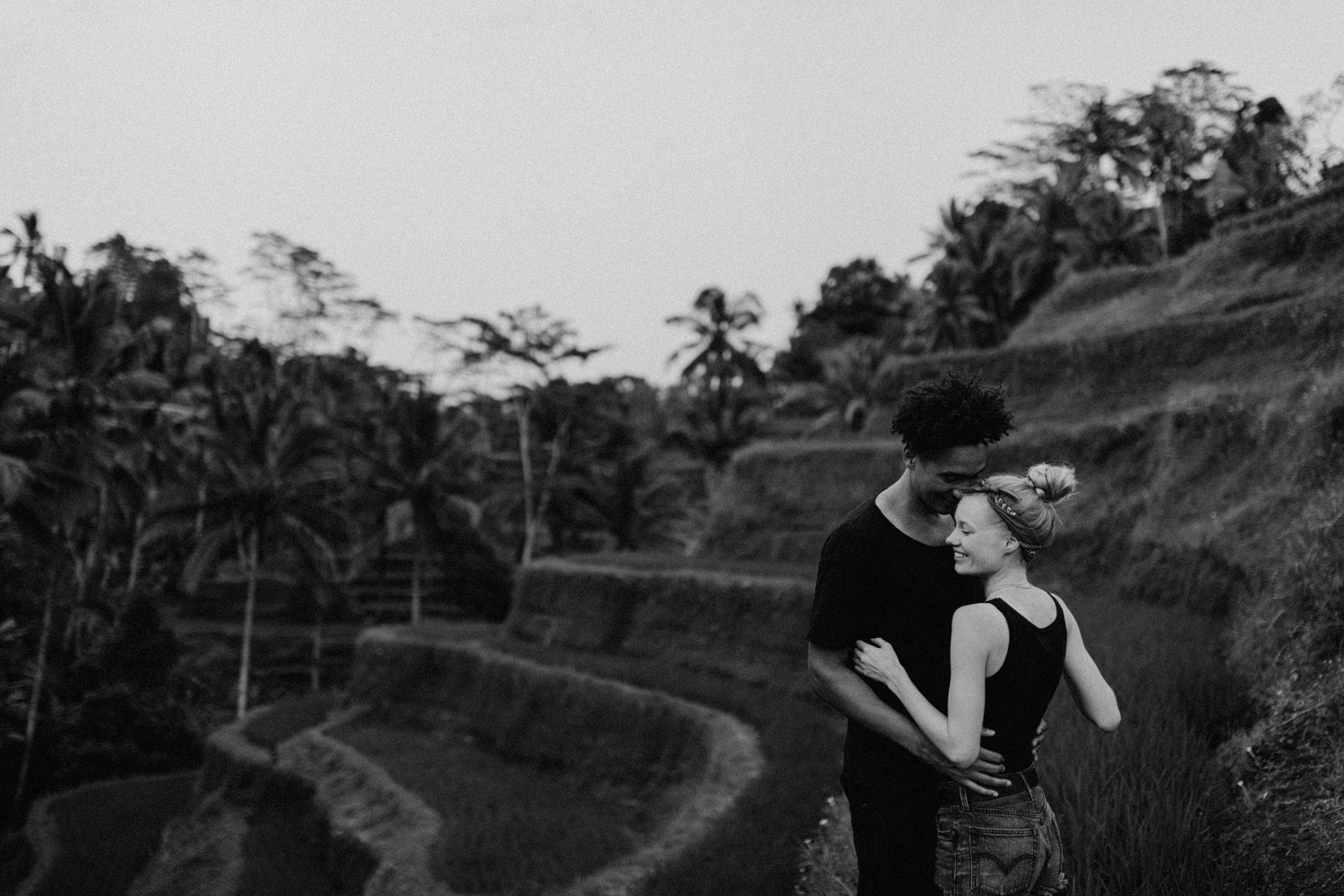 Portrait of couple at Tegalalang Rice Terrace, Bali
