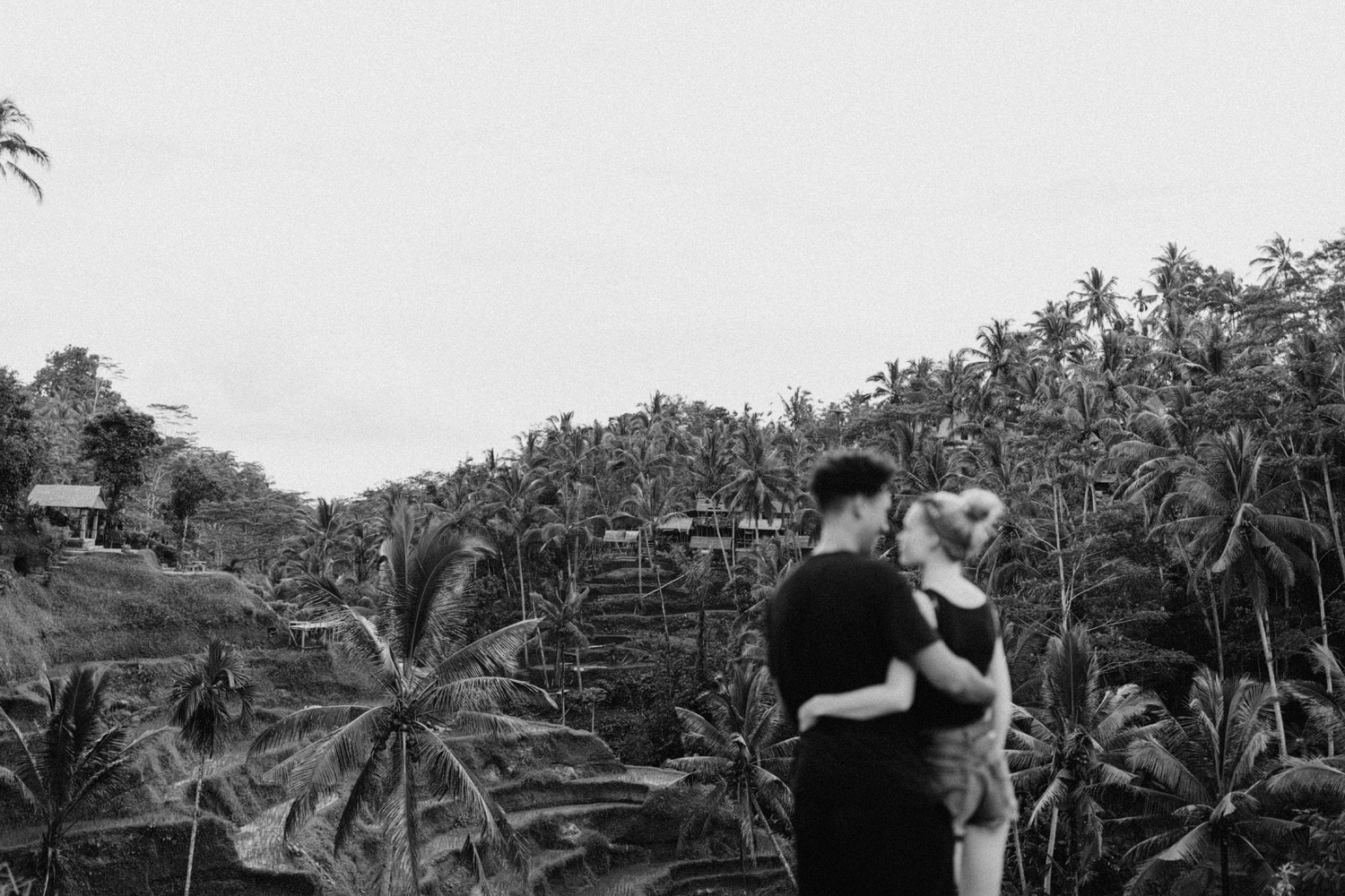 Couple overlooking the beauty of Tegalalang Rice Terrace, Bali