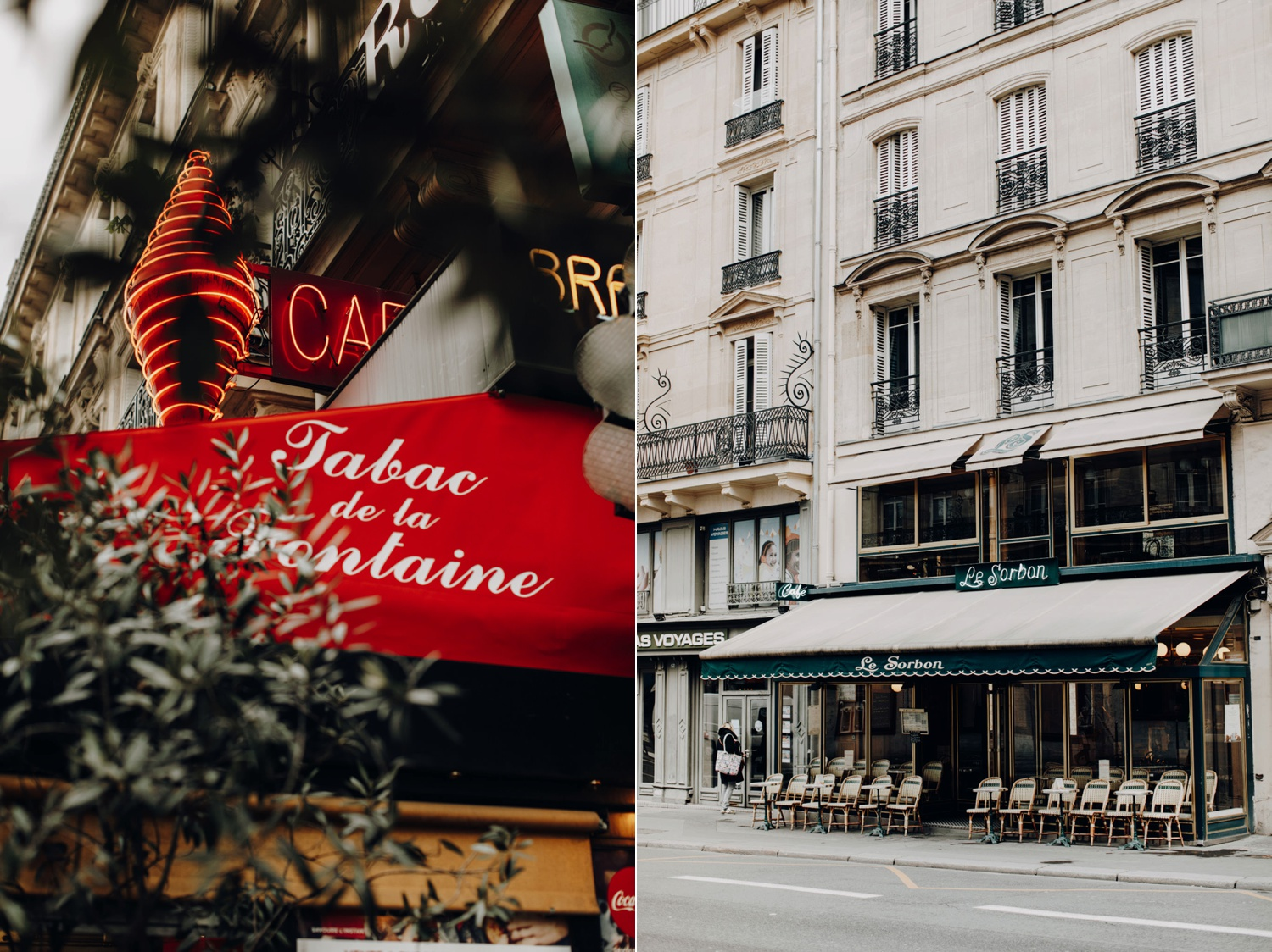 Cafes of Paris, France