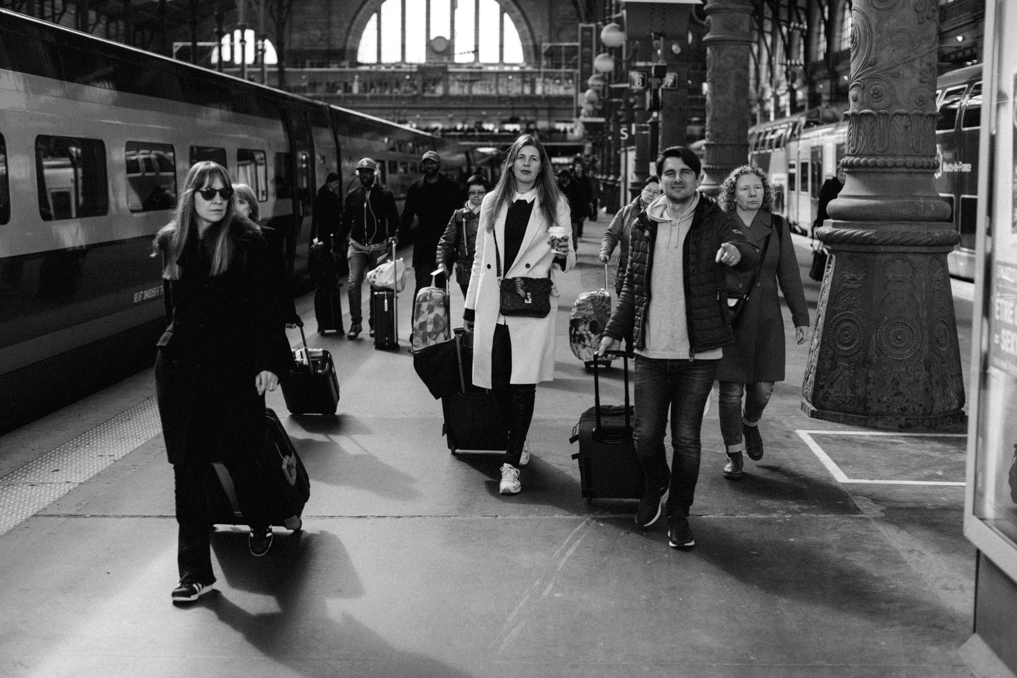People walking on Gare du Nord, Paris, France