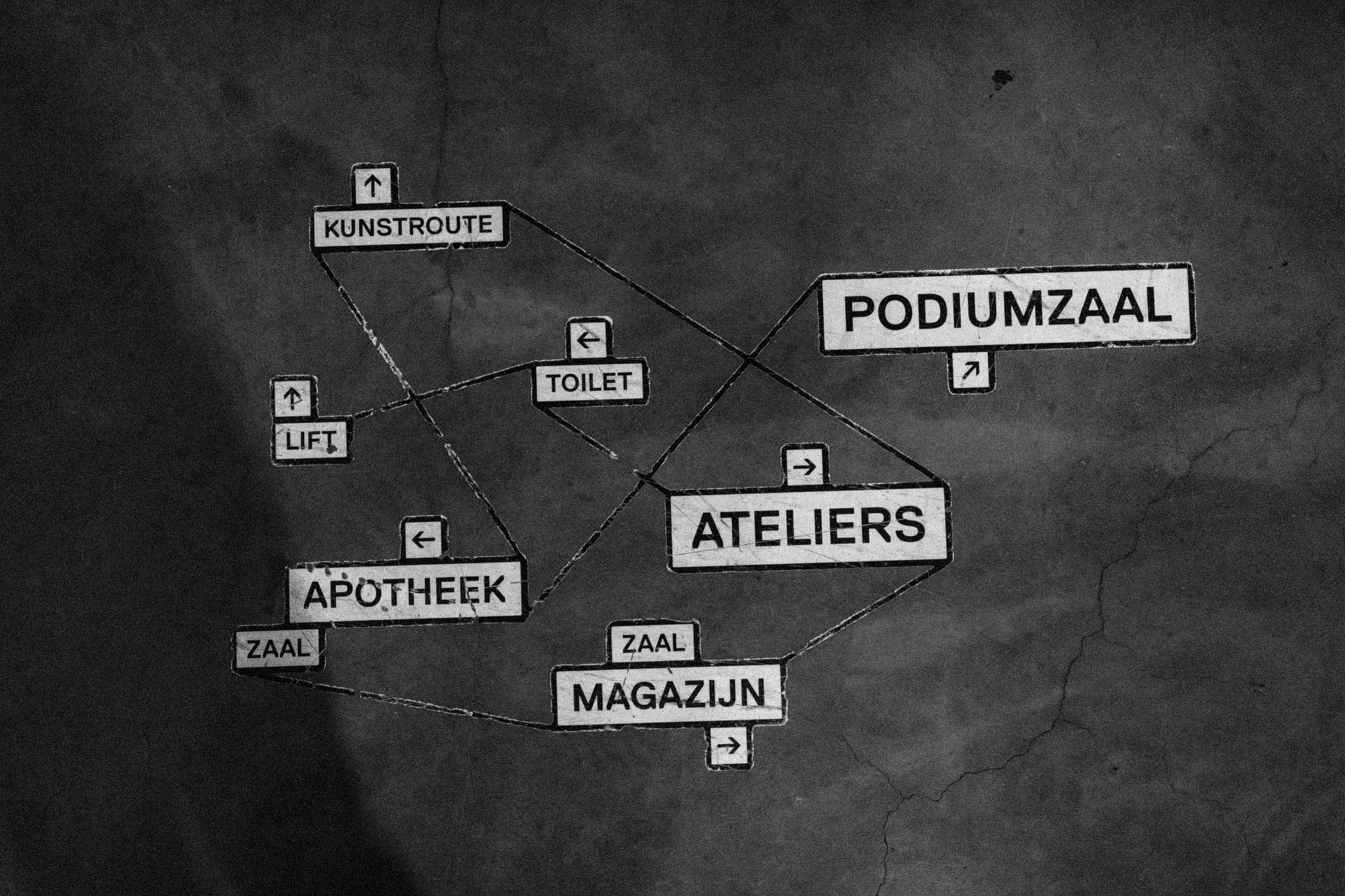 Kaart van locaties in CHV Noordkade