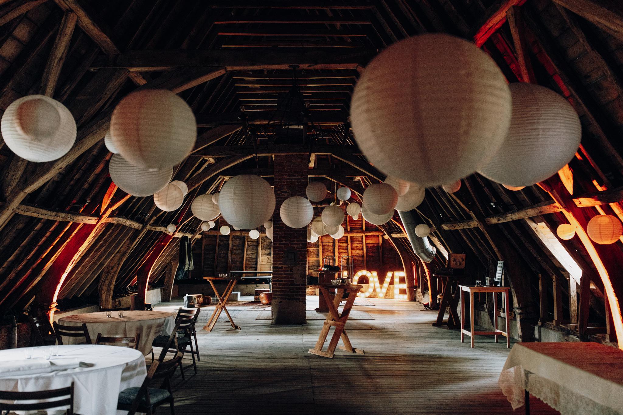 Zolder bij Kloster Graefenthal voor trouwfeest