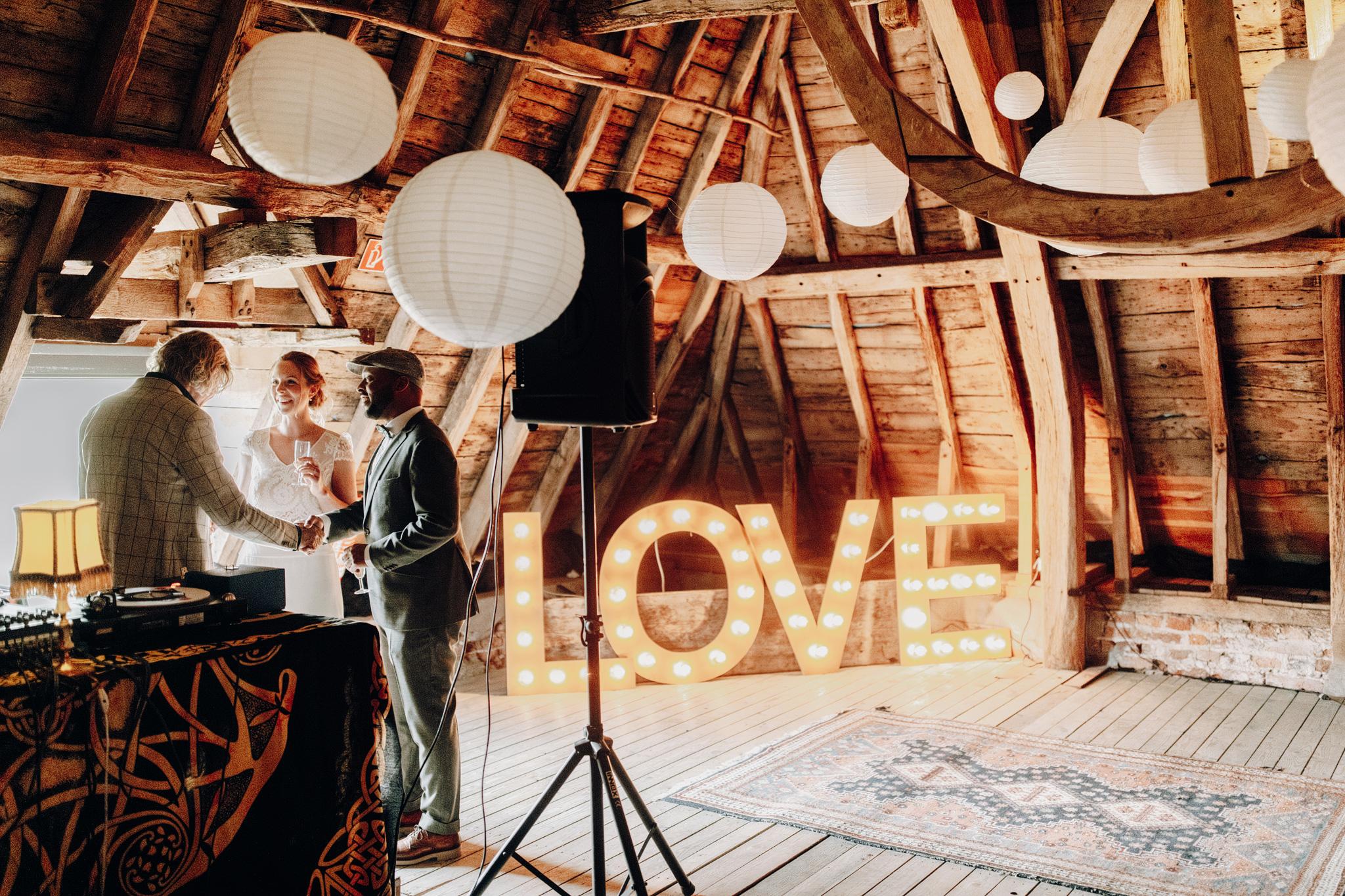 Love letters op bruiloft bij Kloster Graefenthal