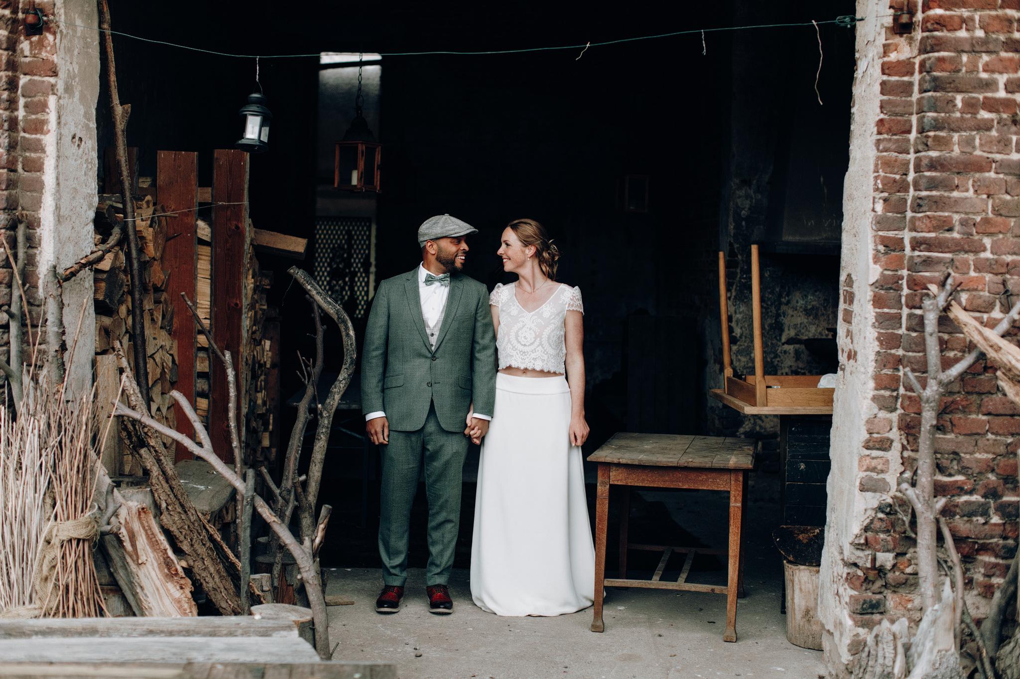 Bruid en bruidegom trouwreportage Kloster Graefenthal