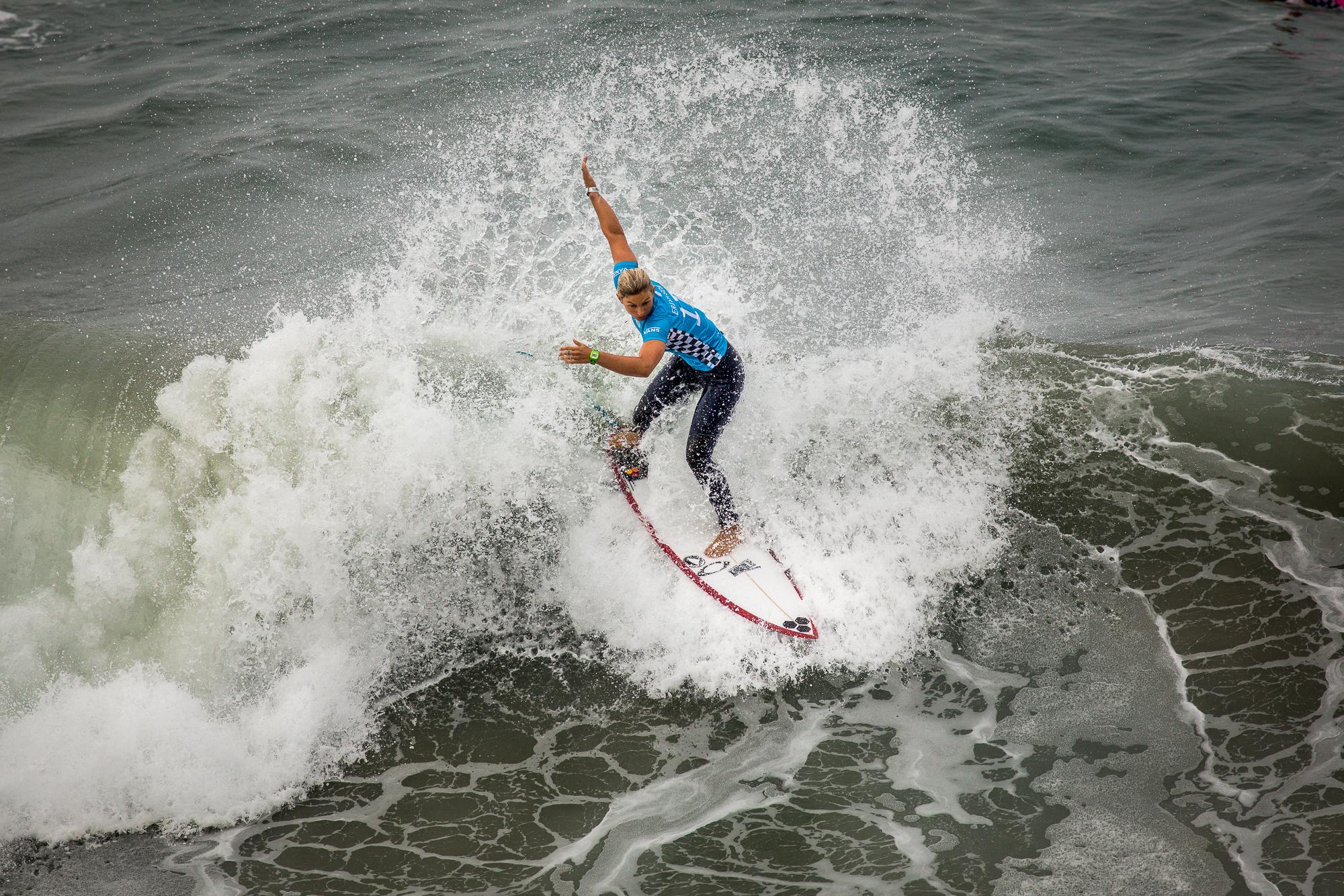 Sage Erickson, winner of the Van's US Open of Surf