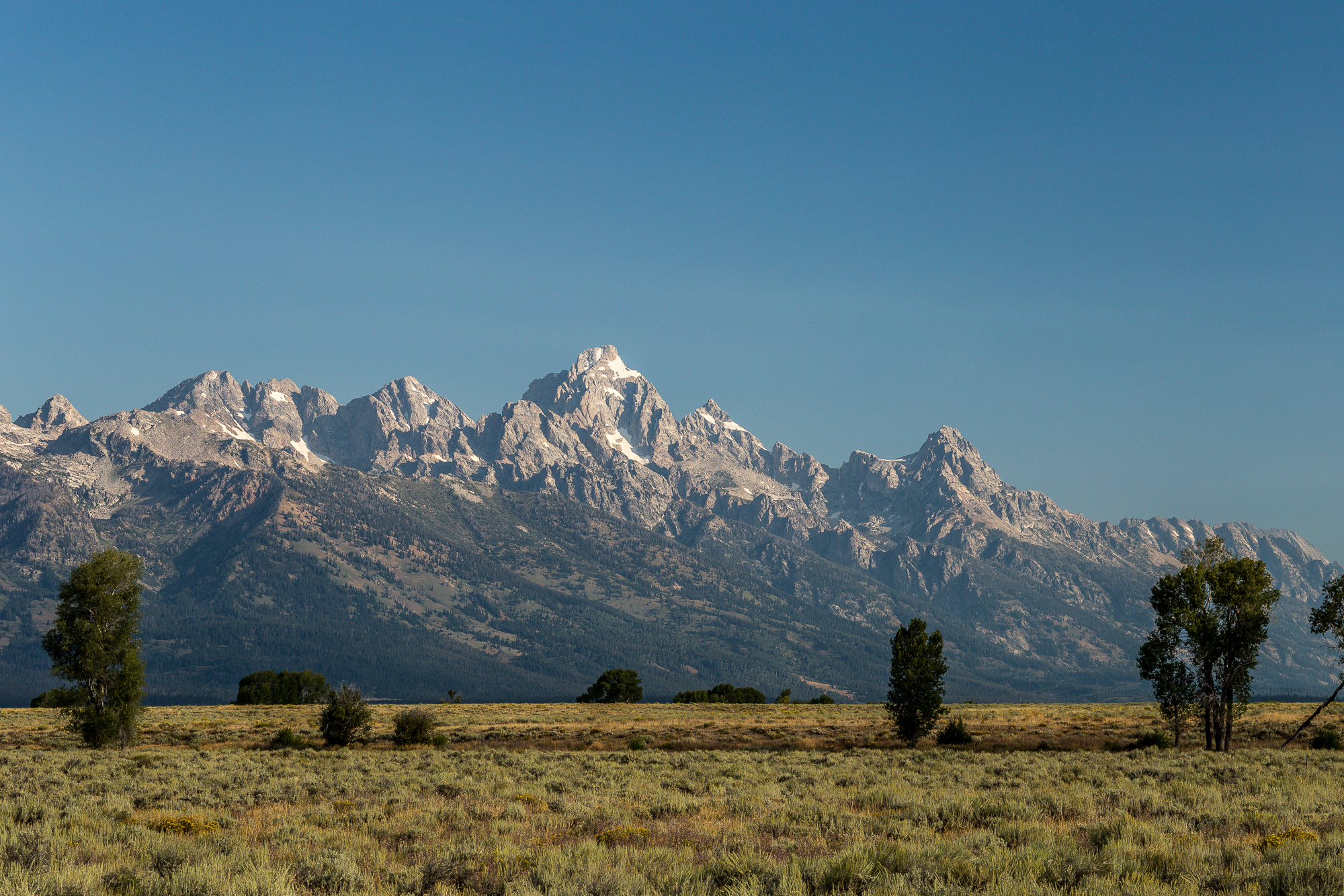The view from our spot.  Grand Teton National Park