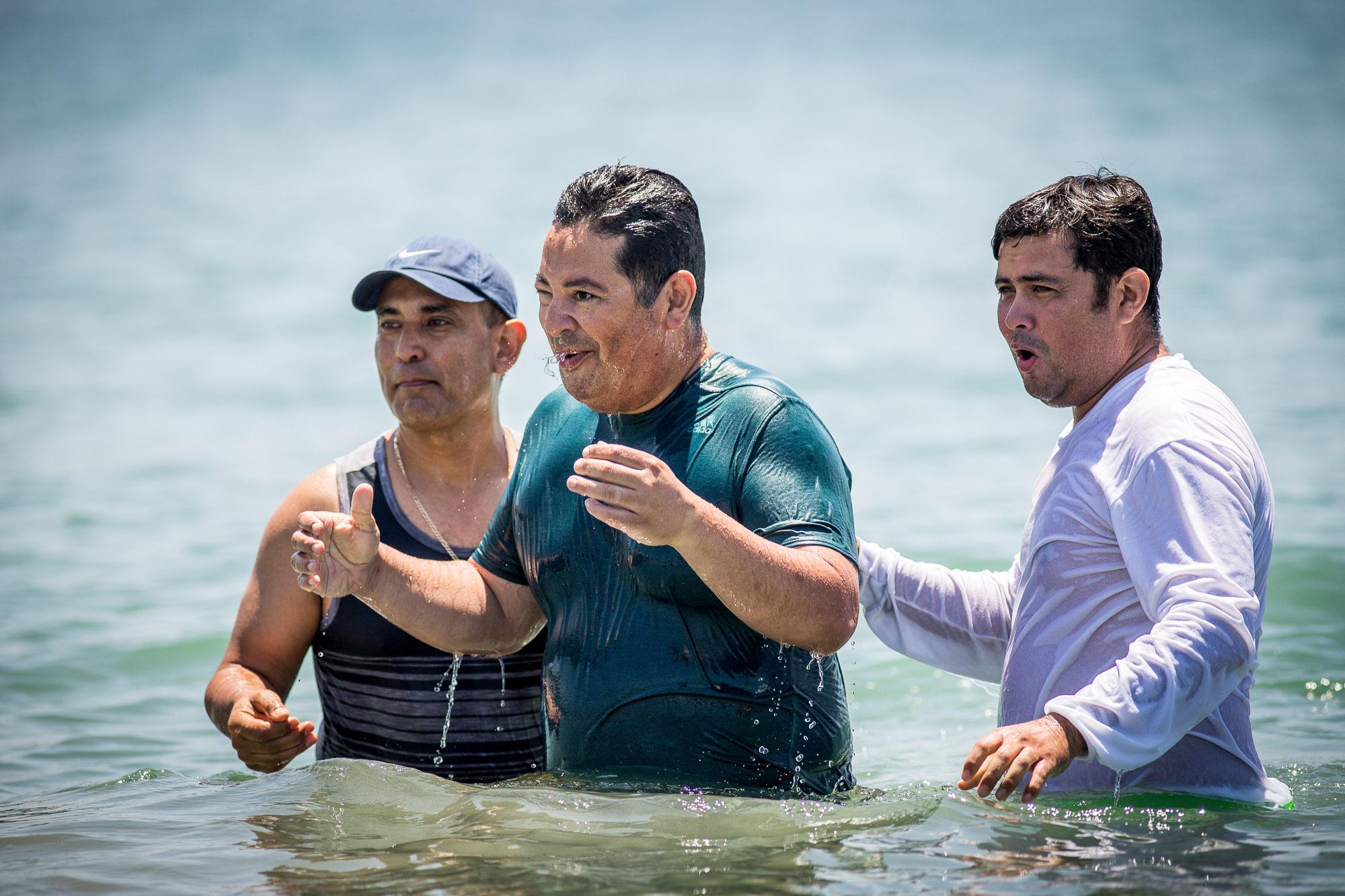La Viña baptisms, at Corona Del Mar. 2018