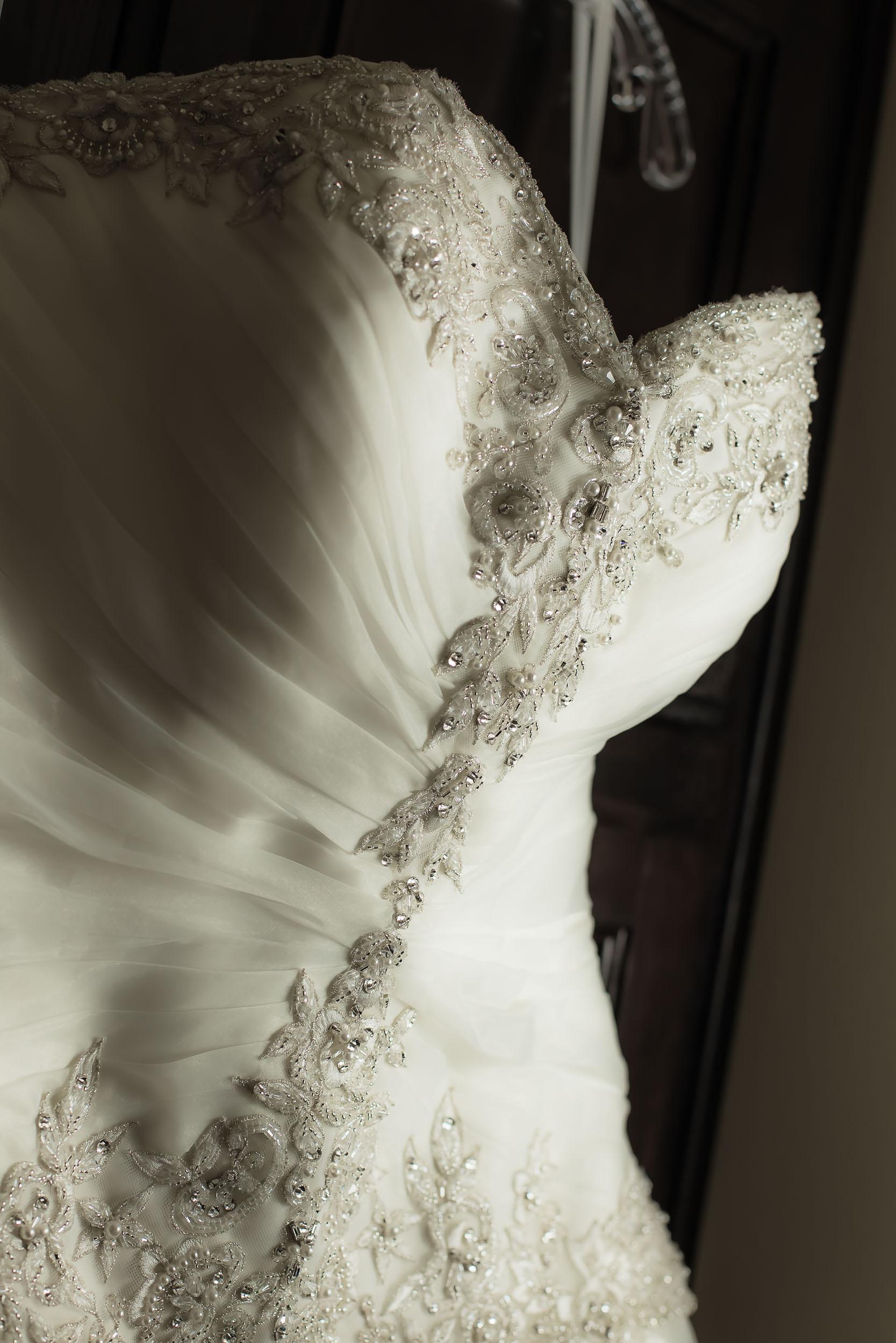 portrait of a wedding dress