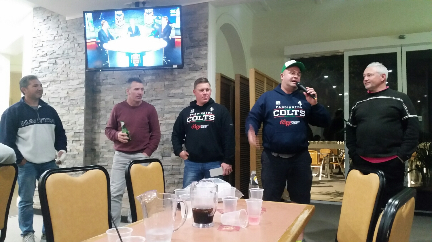 Inspiring speech from some of the older men of the colts 👍