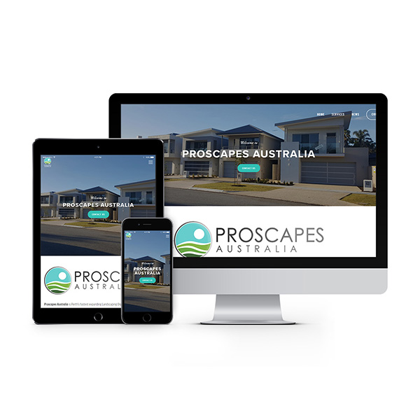 proscapesaustralia.com - by Spider Web Design