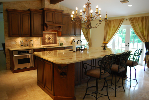 Palmetto Bay Great Room - Full Overlay Cabinetry
