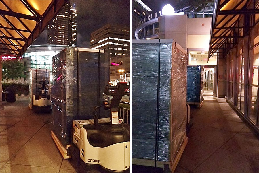 High-Security Safe Installation in the Prudential Center (Boston, MA) by MANCINI Safe