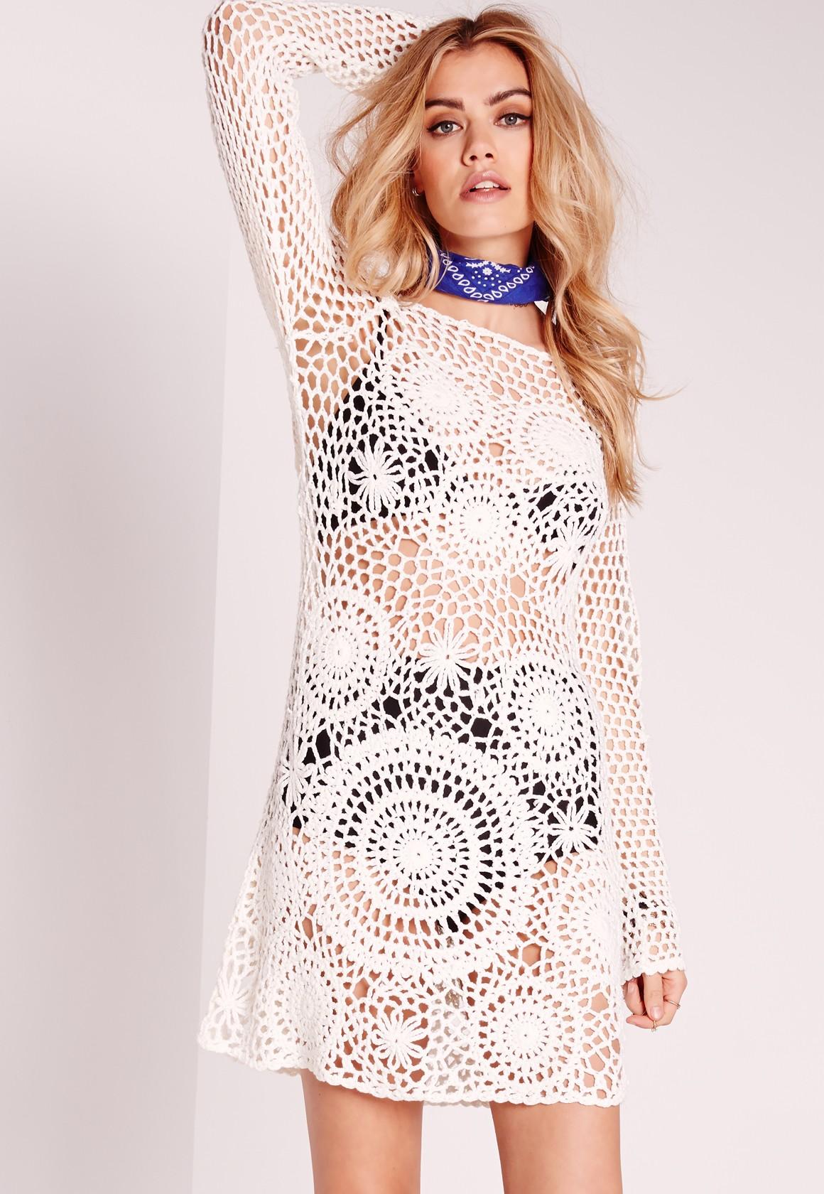 Missguided Crotchet Dress
