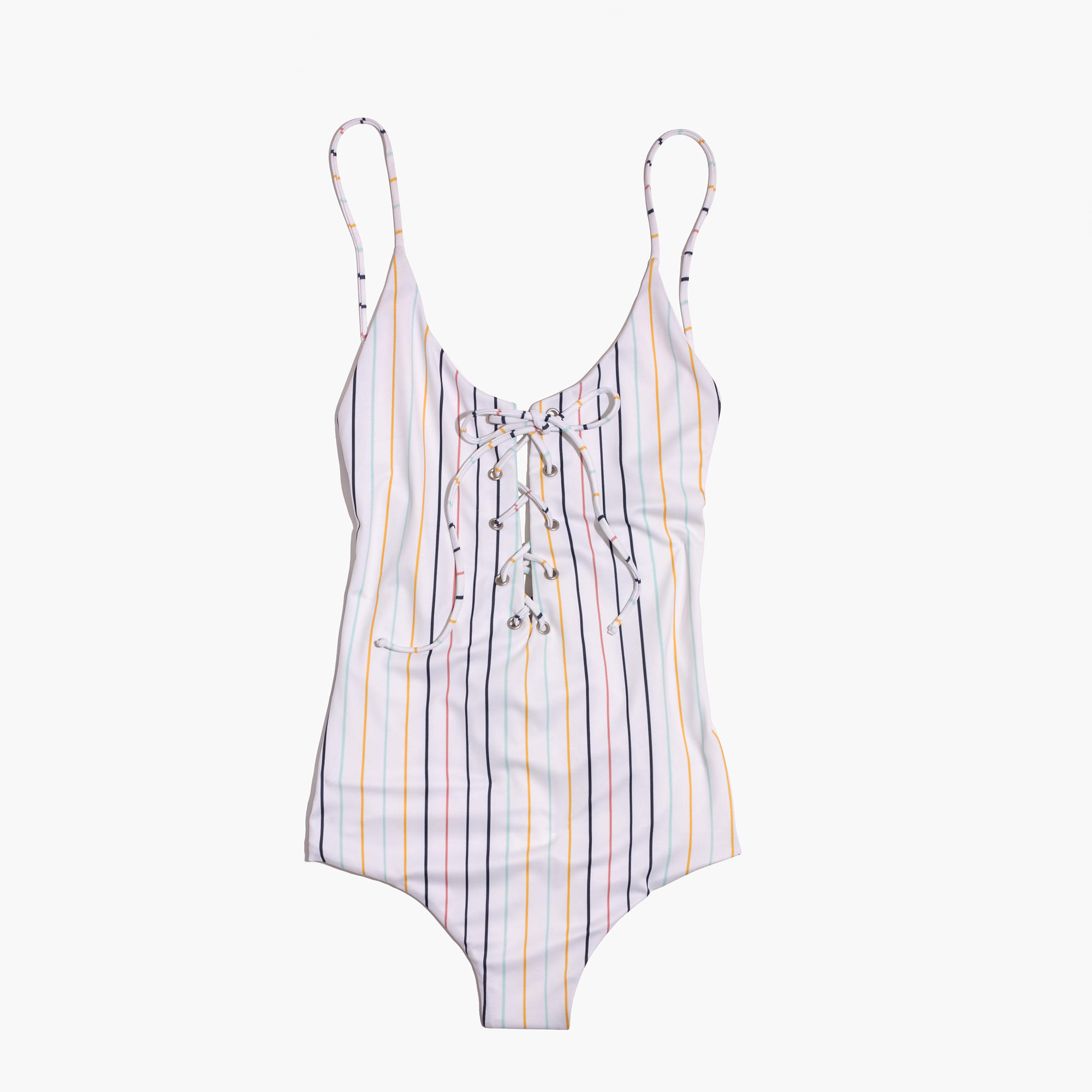 Tavik Monahan Lace-Up One-Piece Swimsuit