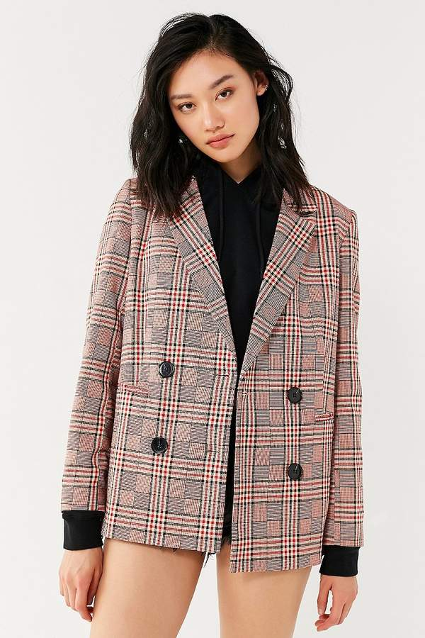 Urban Outfitters UO Checkered Blazer