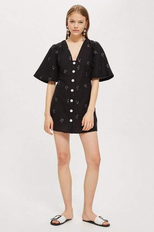 Arrow Linen Mini Dress