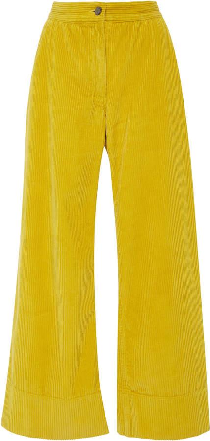 Rachel Comey Clean Bishop Wide Leg Corduroy Pants