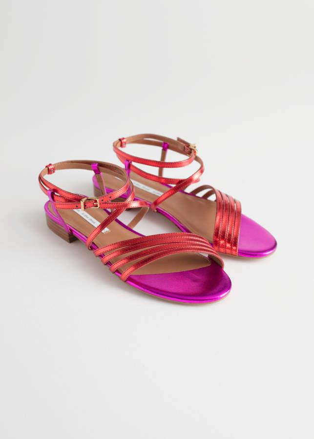 Metallic Gladiator Strappy Sandals