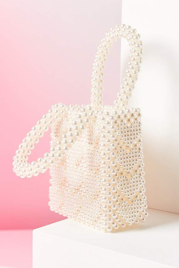 Urban Outfitters Winnie Beaded Mini Tote Bag