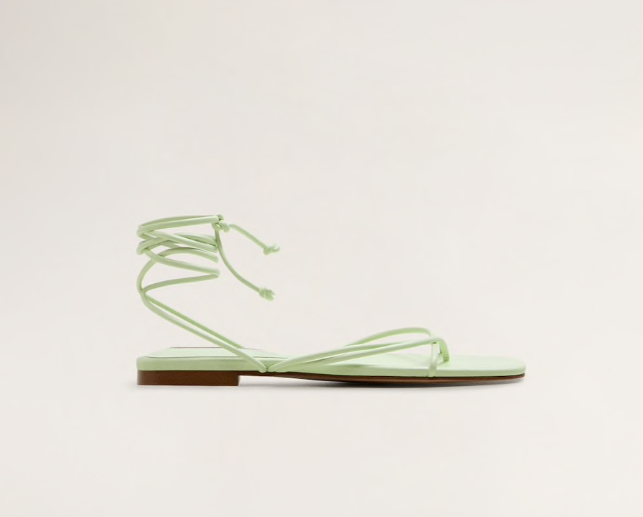 Mango Criss-cross straps sandals