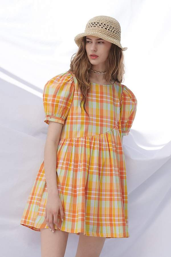 Urban Outfitters UO Carousel Asymmetrical Babydoll Dress