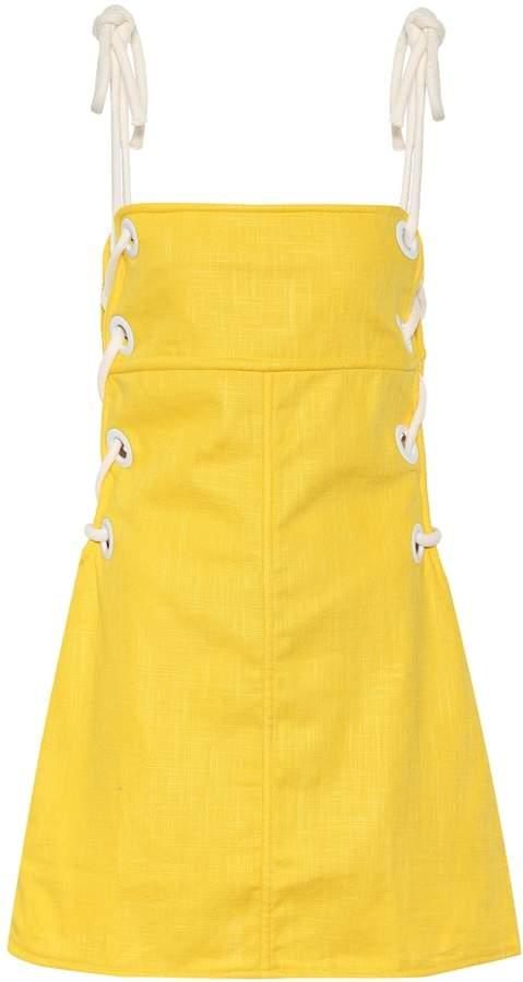 Staud Raft linen-blend dress