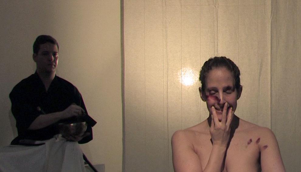 Fan of Violence (Homage to Maya Deren, Glasshouse NY, 2014