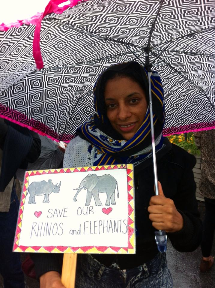 Global March for Elephants and Rhinos in New York