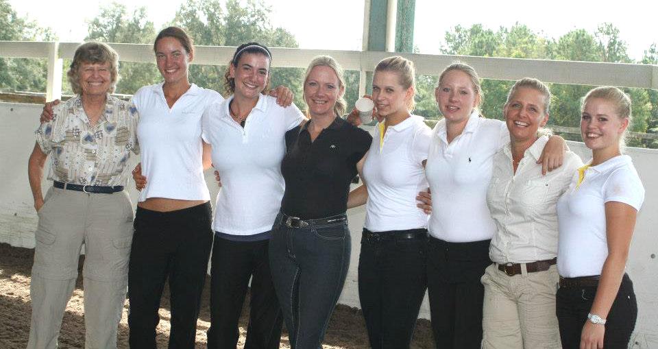 L to R, Jean Brinkman, Helena Enenkelova, Paige Williams, Iris Eppinger, Franziska Egidi, Danielle Davis, Erin Brinkman and Lea Sophie