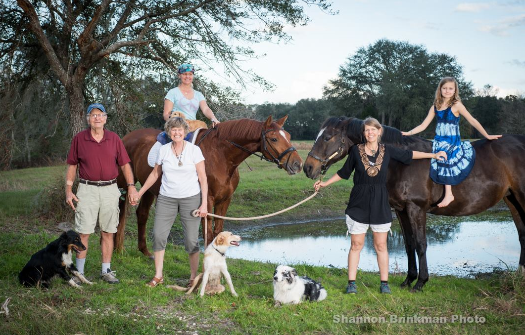 The Brinkmans, 2016:  Roy, Jean, Erin, Shannon and Roya with dogs Thor, Lettie & Fancy
