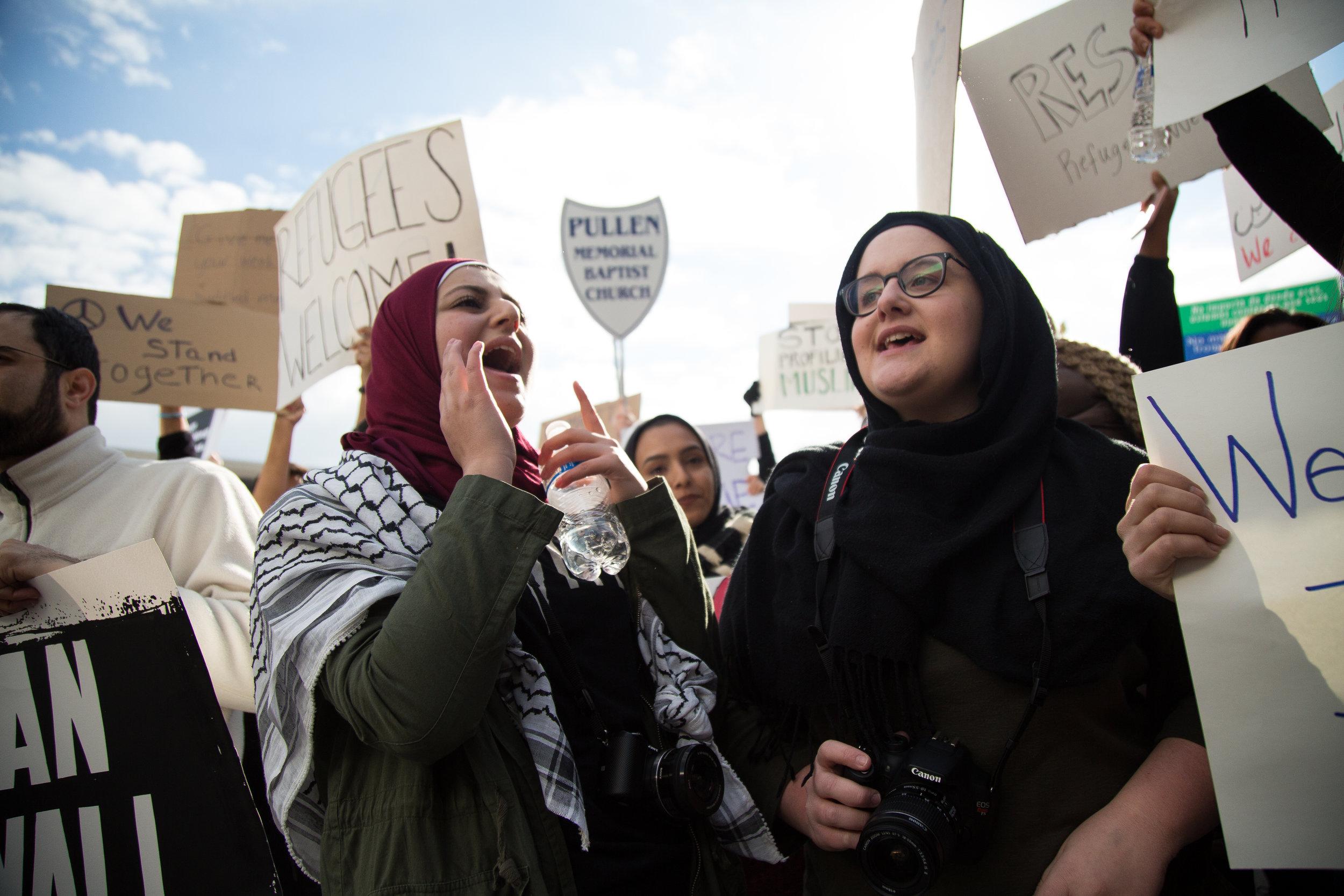 Protesting the 'Muslim Ban'