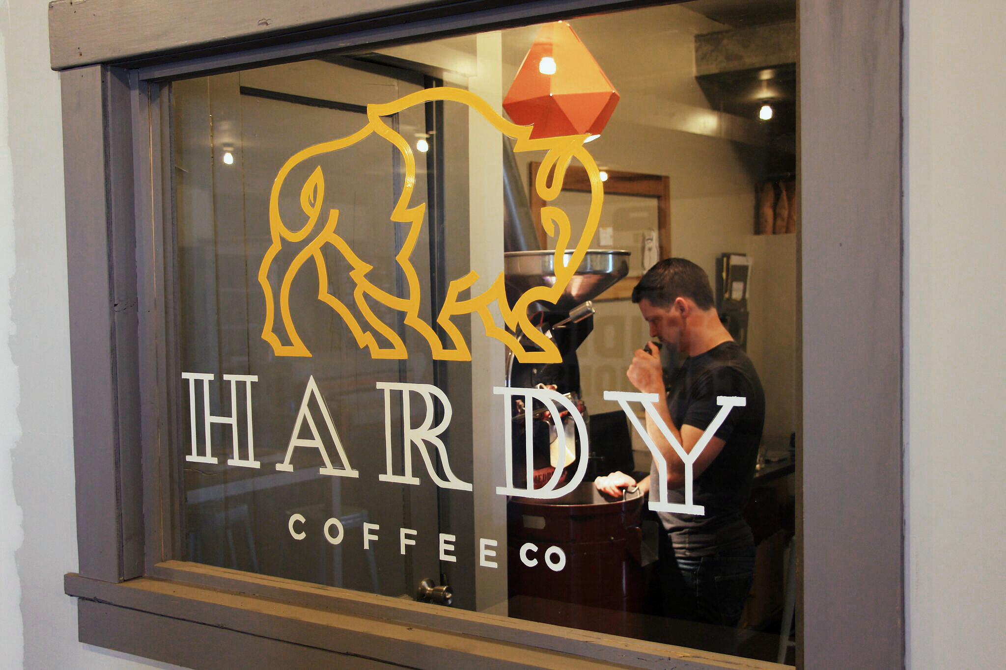 Hardy Coffee Co head roaster, Nick Tabor