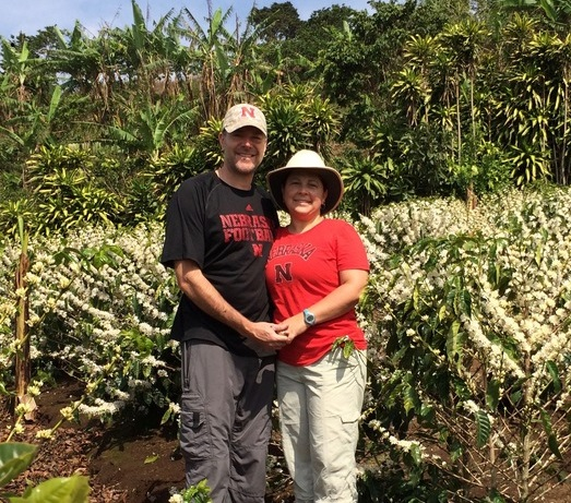 Jon & Marianella Jost at their coffee farm (photo courtesy of Cafe' Con Amor)