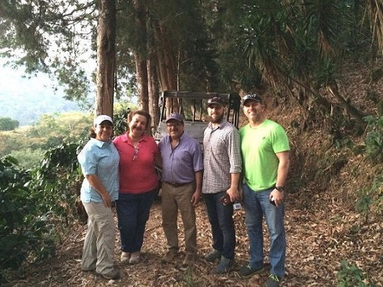 Farmers Project members with Jon & Marianella (photo courtesy of Cafe Con Amor)