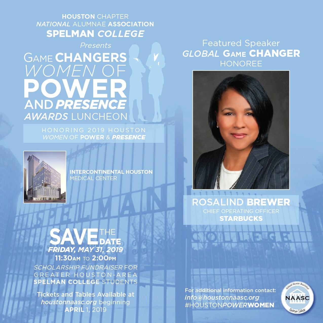 Global Game Changer - Ms. Rosalind Brewer '84