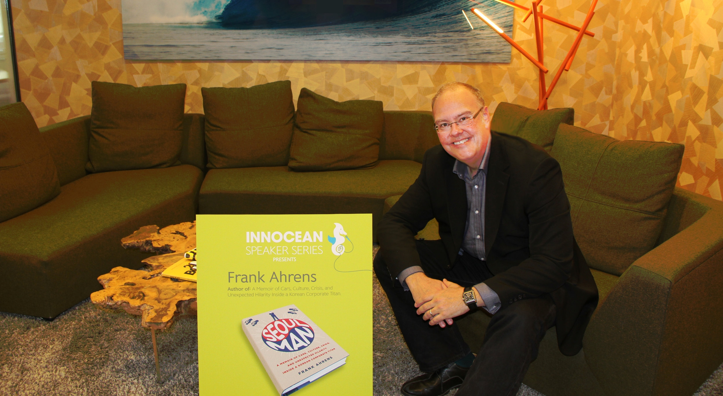 Frank speaking at advertising agency InnoceanUSA in Huntington Beach, Calif.