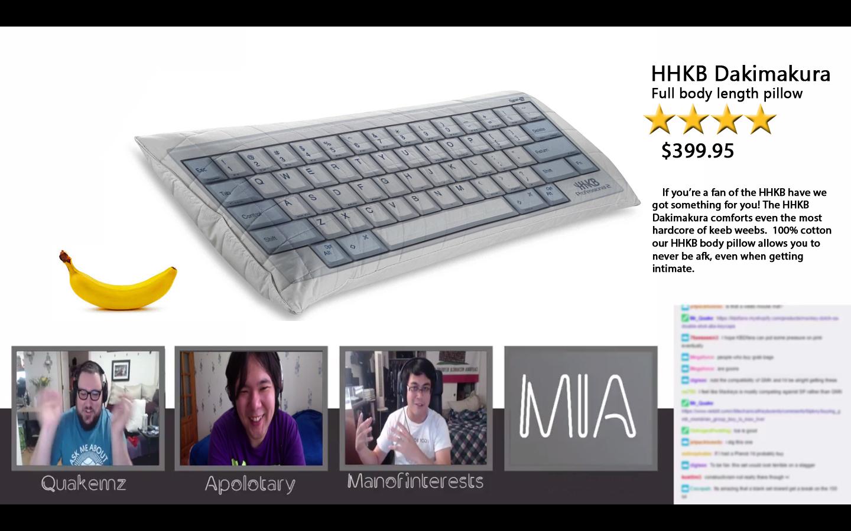 Keyboard Dakimakura