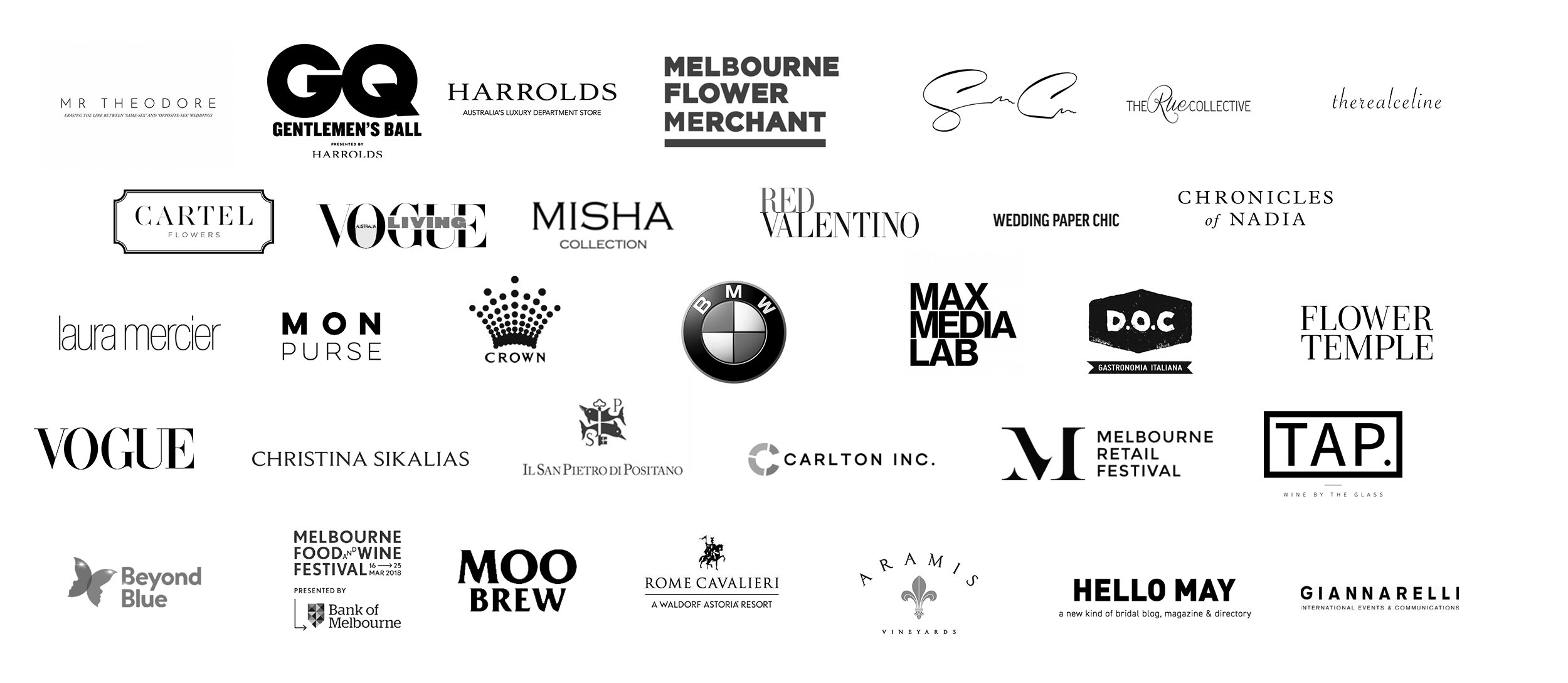 Clients - Working with some of the most luxurious brands in both Australia and internationally, Sara has an extensive portfolio of incredible clients……