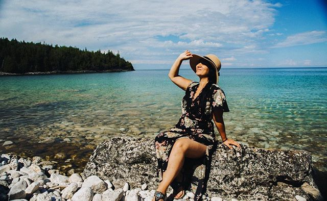 """Light and shadow never stand still."" - Benjamin West. #brucepeninsula #littlecove #turquoiselake #summer #alittlebreak #travel #adventure #ontario #canada 🇨🇦 Sent via @planoly #planoly"