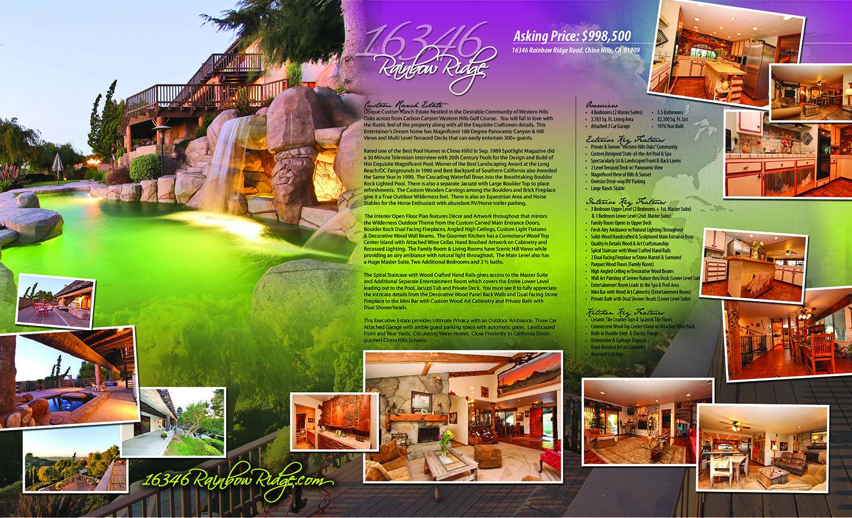 Custom Print Work — Chino Hills Homes Real Estate Agent