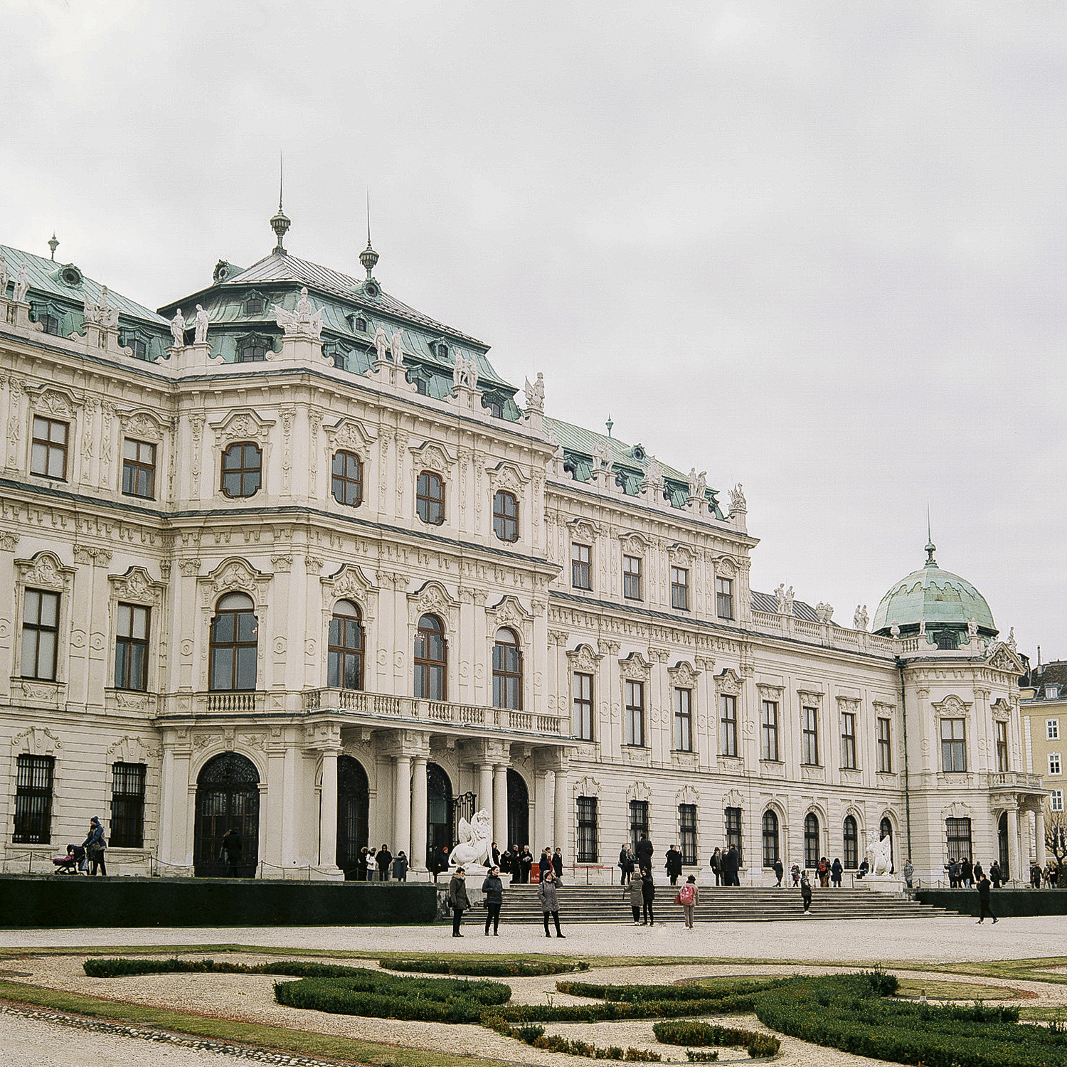 The Belvedere in Vienna, Austria.