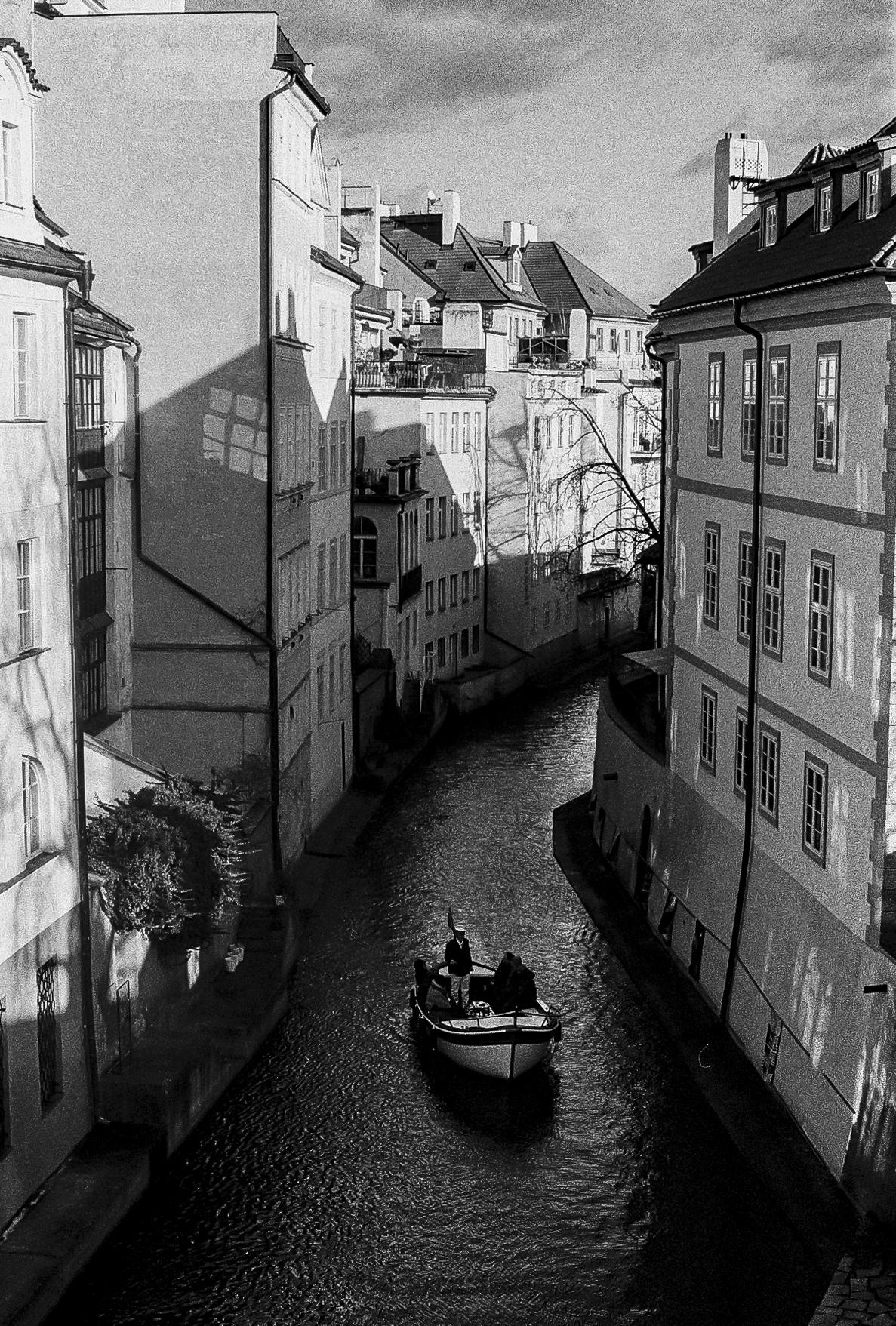 Canal in Prague.
