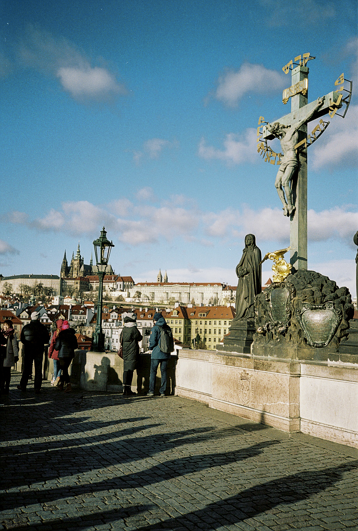Statue on the Charles Bridge.