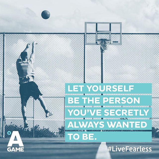 Don't let anything hold you back from being who you've always wanted to be. #LiveFearless #BringYourAGame